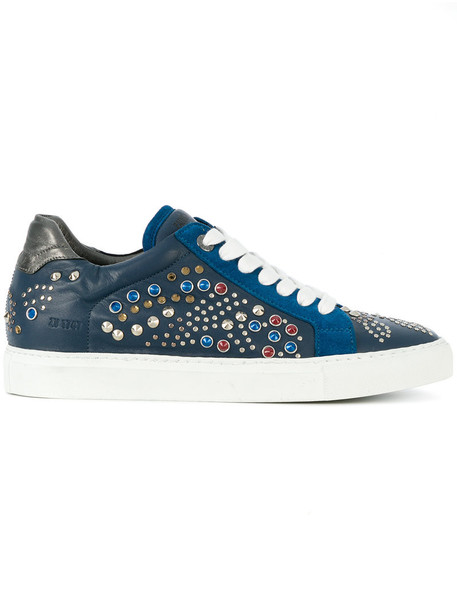 Zadig & Voltaire studs women sneakers leather blue shoes
