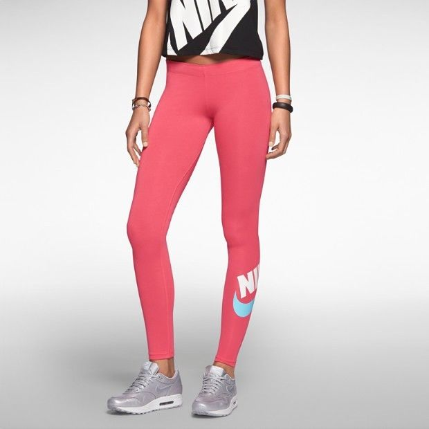 552940-610 Women's Nike Leg-A-See Leggings FUTURA PINK/GERANIUM READY TO SHIP