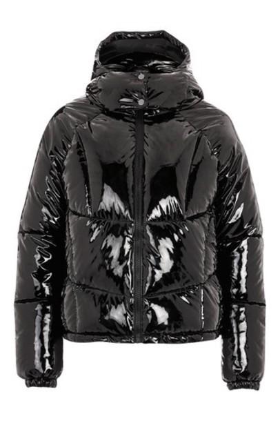 Topshop jacket puffer jacket vinyl black