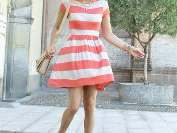 dress sundress striped
