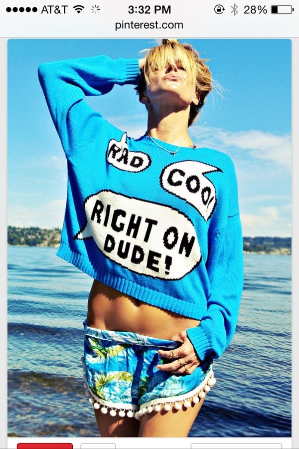 sweater blue cute rad tumblr