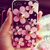 phone cover,iphone case,flowers,pink#flowers#