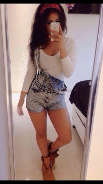romper jeans shorts overalls dope wishlist