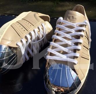shoes adidas adidas superstars adidas originals gold adidas superstar 80's nude all nude everything nude sneakers nude dress sneakers nike sneakers