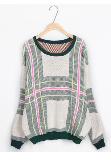 Fashion Colored Cross Line Sweater [FKBJ10274]- US$ 15.29 - PersunMall.com