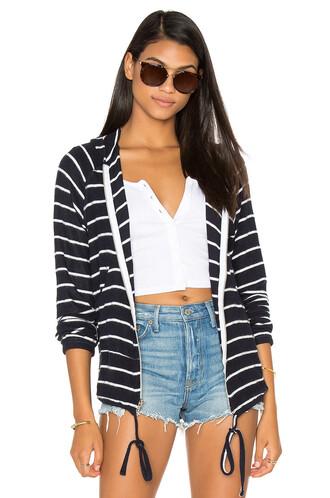 hoodie zip navy