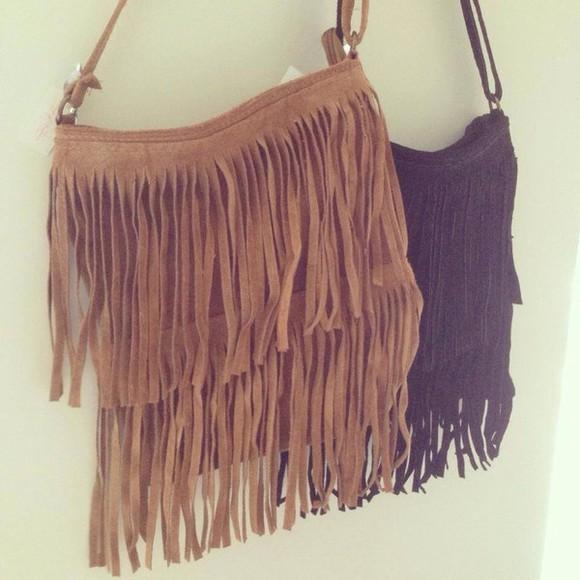 bag fringed bag boho hippie vintage