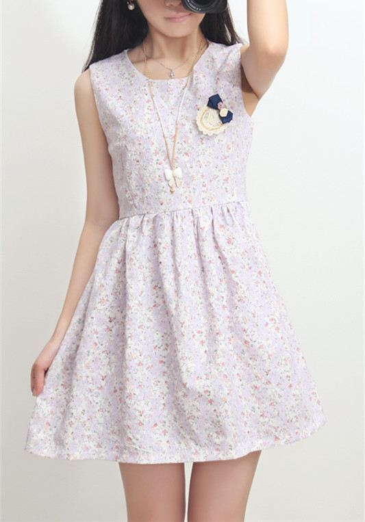 Lovely Organza Floral Lace Dresses, Sweet Floral Dresses, Summer Dresses 2014 on Luulla