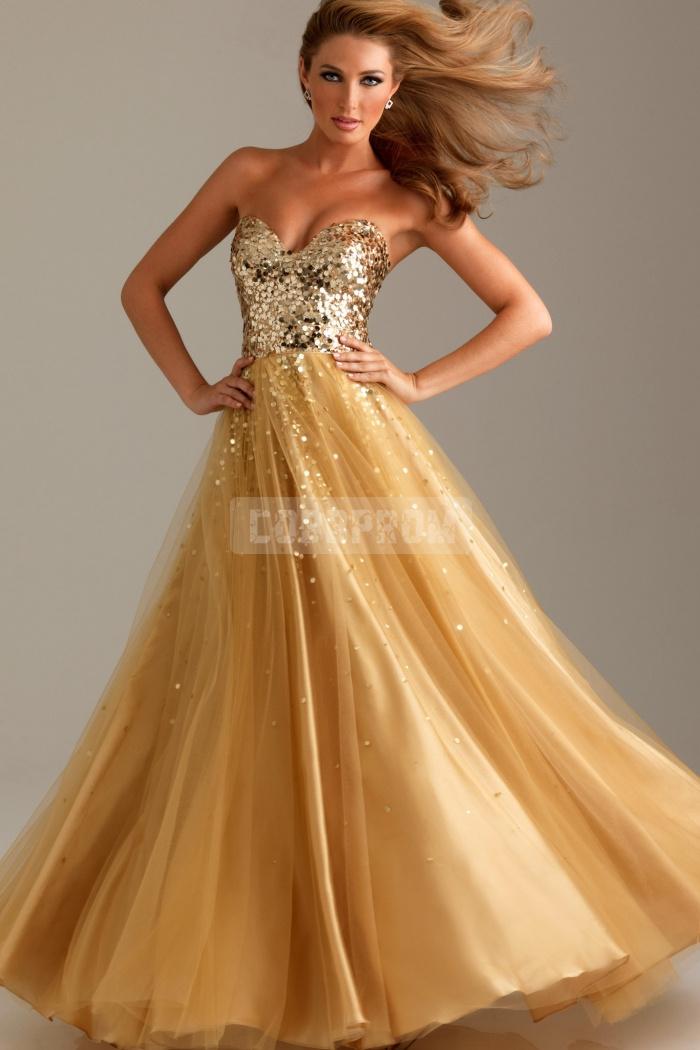 Zipper sweetheart organza ball gown empire long prom dress