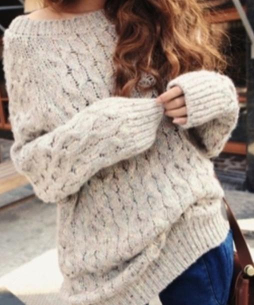 Вязание спицами 50 идей - модные вязаные свитера спицами