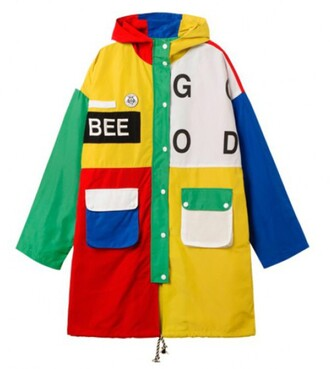 jacket colorful yellow red green summer cool trendy boogzel