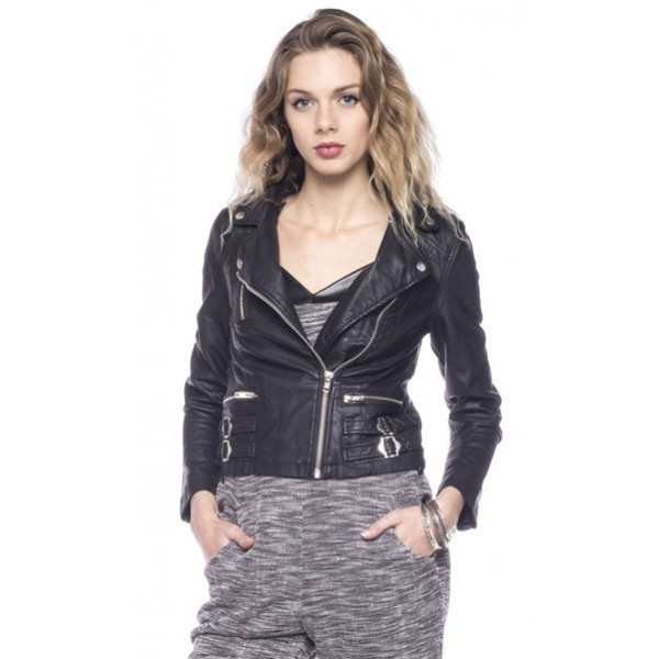 jacket bad mama black leather faux buckles silver vanity row dress to kill chic epic badass crop biker makeup table