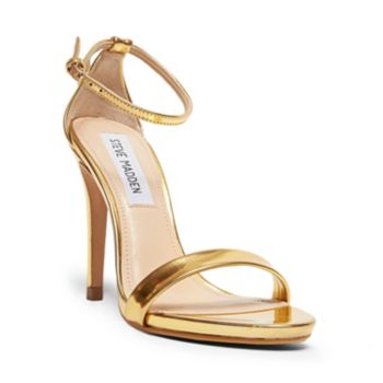 STECY GOLD FOIL women's dress high ankle strap - Steve Madden