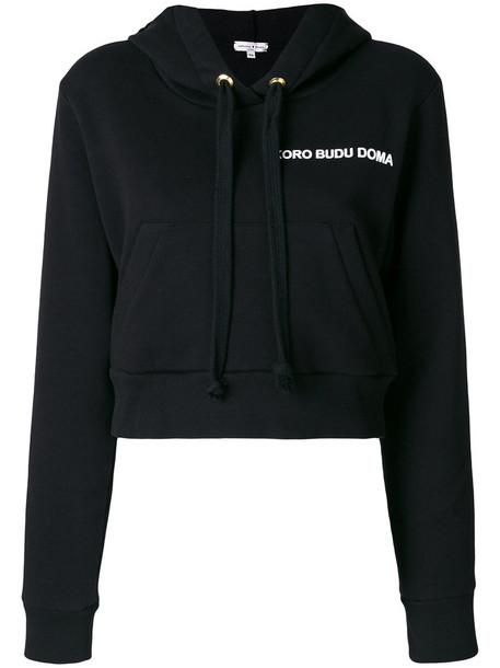 Natasha Zinko hoodie women cotton black sweater