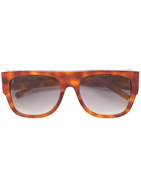 Saint Laurent Eyewear oversized women sunglasses oversized sunglasses brown
