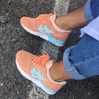 shoes asics asics gel lyte iii asics gel lyte 3 asics sneakers sneakers orange blue white
