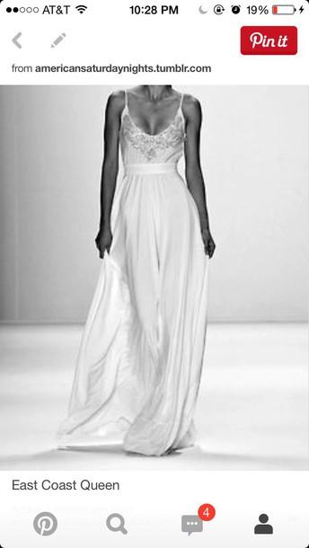 dress white long studded