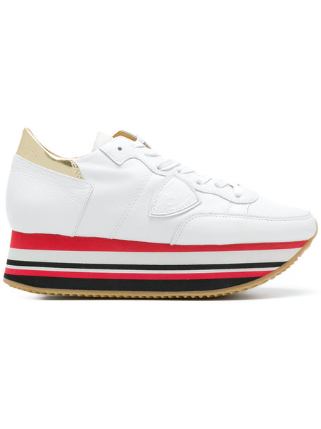 Philippe Model women sneakers leather white shoes