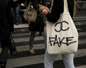 chanel,fake bag,tote bag,logo,bag,chanel inspired,purse,hipster,Accessory,fake,canvas,funny,white,black,chanel bag,handbag,tumblr,ipadiphonecase.com,white bag,grunge wishlist