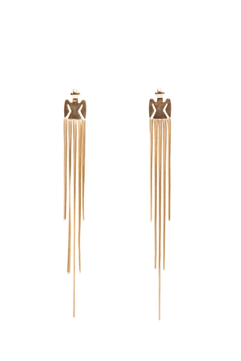 Condor Waterfall Earrings Gold Plated Flor Amazona