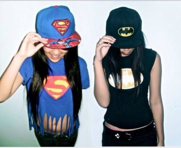batman superman shirt hat