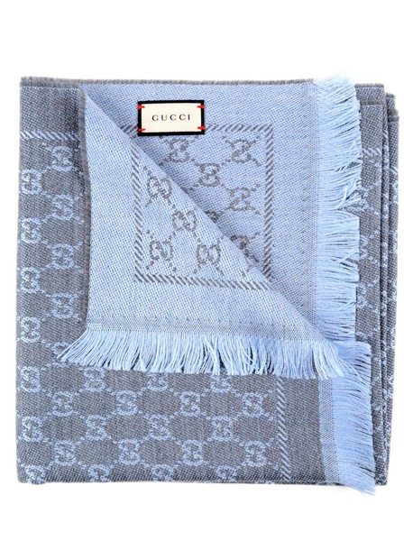 gucci new scarf blue flannel sky blue