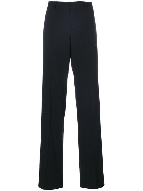 Dsquared2 - tailored straight-leg trousers - women - Polyester/Spandex/Elastane/Acetate/Wool - 44, Black, Polyester/Spandex/Elastane/Acetate/Wool