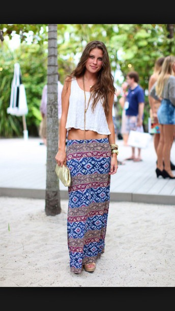 skirt style maxi dress maxi skirt maxi tumblr outfit tumblr cute dress fashion girl beach blue dress blue skirt purple dress pattern