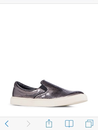 shoes snake grey silver metallic snake print