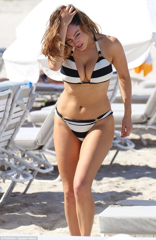 swimwear kelly brook bikini striped bikini black and white bikini