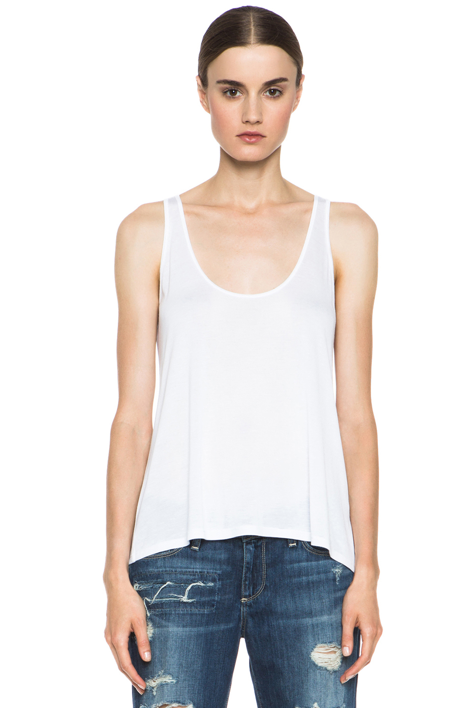 Enza Costa|Loose Tank in White