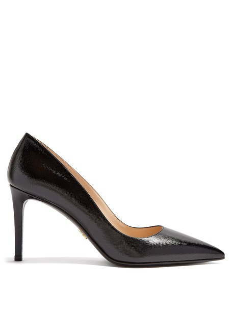 Prada pumps leather black shoes