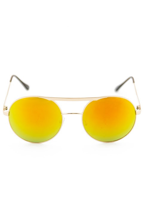 FLOWER POWER SUNGLASSES - Yellow | Haute & Rebellious