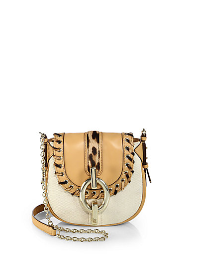 Diane von Furstenberg - Sutra Mini Mixed-Media Crossbody Bag - Saks.com