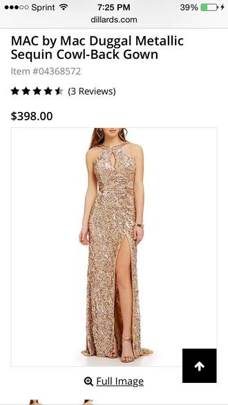 dress gold dress long dress gold sequins slit dress sequin dress sexy dress