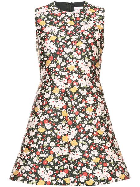 dress print dress women floral print black