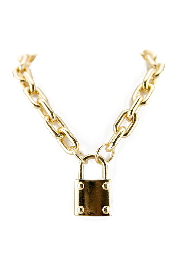 KEYLOCK PENDANT CHAIN NECKLACE | Haute & Rebellious