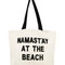 Namast'ay at the beach crystal tote