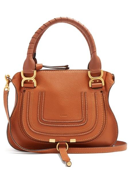 Chloe handbag leather tan bag