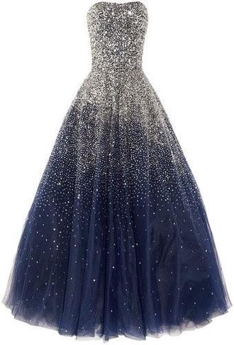 dress blue formal prom dress glitter sparkle