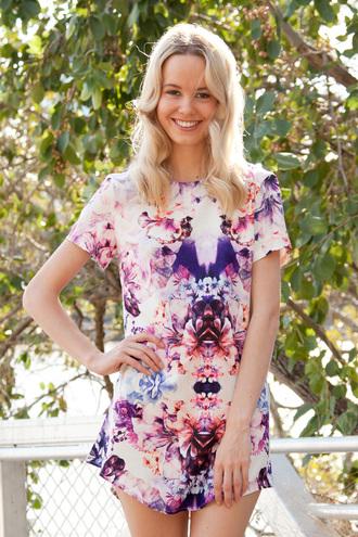 dress blue shift white cute pink purple t-shirt dress sleeves shopfashionavenue tee dress
