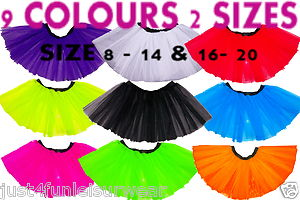 Neon tutu skirt 3 layers 9 colours 2 sizes 8