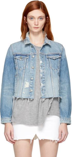 GRLFRND jacket denim blue