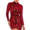 Clothing : bodycon dresses : 'gigi' deep red velvet and lace mini dress