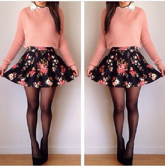 white style long sleeve soft fashion skirt peach cotton black crystal,pump,heels,hight heels,red sole,shinny, sparkle, glitter heels.nightclub heels, flower skater skirt