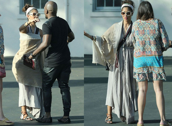 scarf shoes sunglasses nicole scherzinger dress