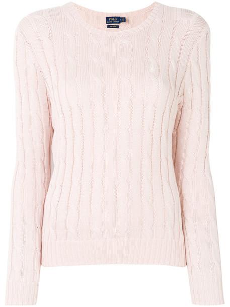 Polo Ralph Lauren sweater women nude cotton knit