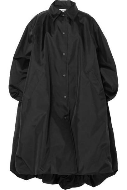 Balenciaga - Oversized Canvas Coat - Black