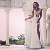chiffon,v neck,chiffon dress,wedding dress,bridal,high quality,custom dressg,gown,bridal dress,split front dress,women,fashion dress,bridal dresses,slit,prom dress,evening dress,v neck dress,formal dress,slit dress,dress