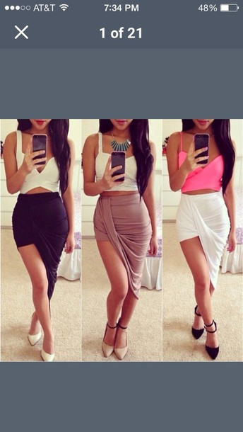 skirt crop tops